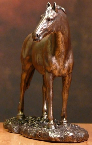Photo of Horse Standing Bronze Figurine