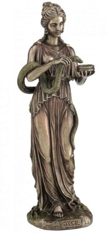 Photo of Hygieia Goddess of Health Bronze Figurine 27 cm