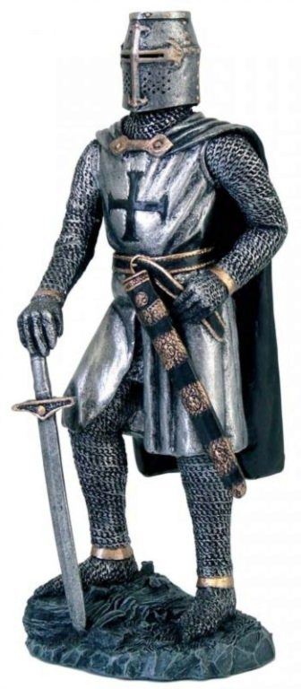 Photo of Knight Templar with Sword Figurine