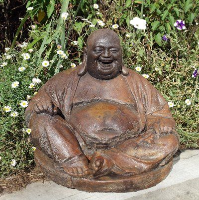 Phot of Laughing Buddha Stone Sculpture