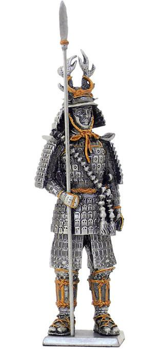 Photo of Samurai Warrior with Spear Pewter Figurine