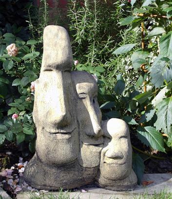 Photo of Triple Easter Island Heads Stone Statue