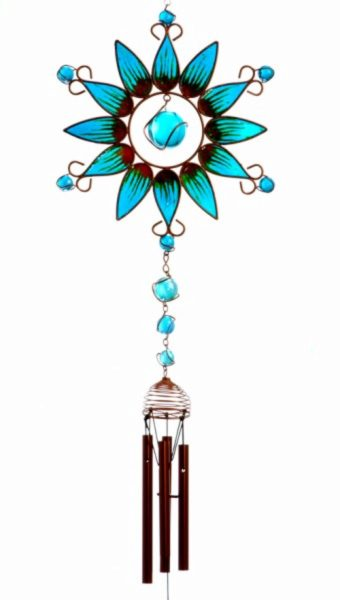 Photo of Turquoise Sunflower Windchime (Large)