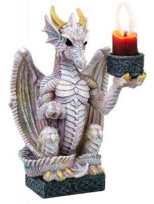 Photo of White Light Keeper Dragon Candle Holder 16 cm tall