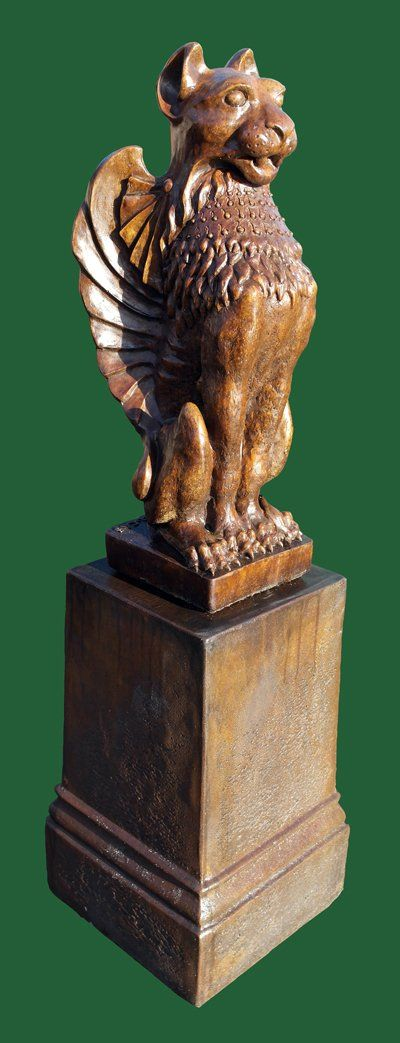 Phot of Winged Lion Stone Statue