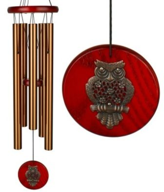 Photo of Woodstock Wind Chime with Brass Owl (Habitats)