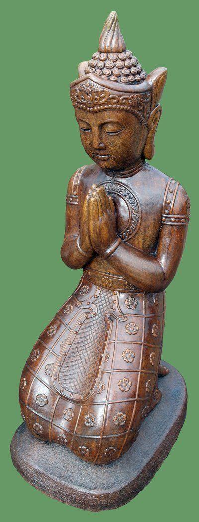 Phot of Kneeling Buddha Stone Statue Large