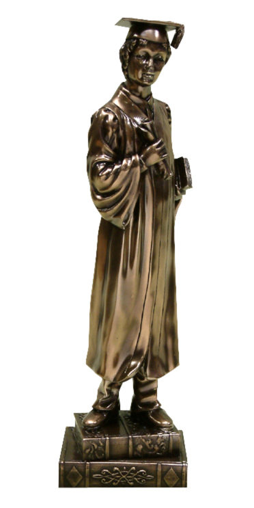 Photo of Male Graduation Bronze Figurine (Juliana)