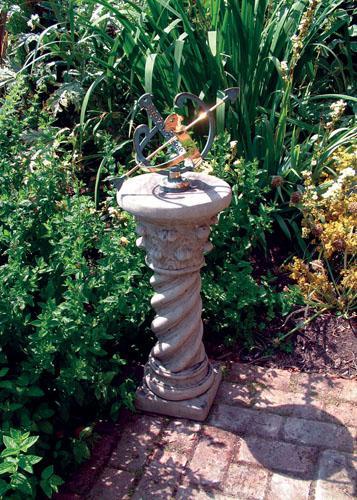 Photo of Roman Stone Column with Brass Armillary