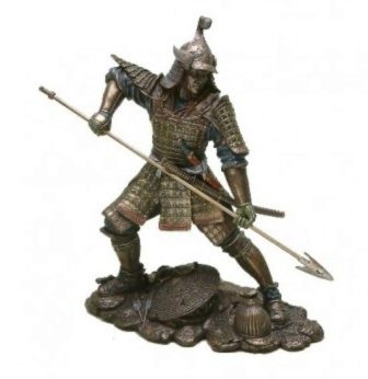 Photo of Samurai with Spear Bronze Figurine