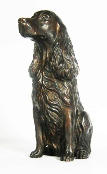 Photo of Spaniel Sitting Bronze Ornament