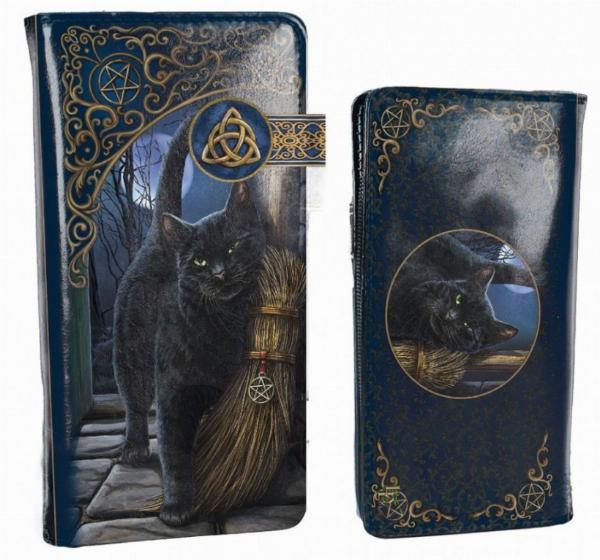 Photo of A Brush With Magick Embossed Cat Purse (Lisa Parker) 18cm
