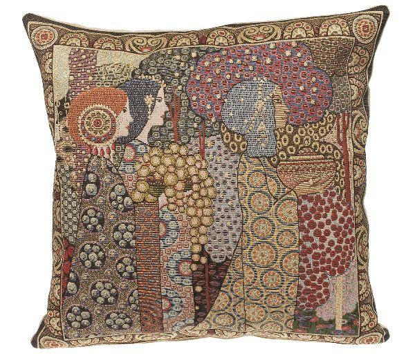 Phot of Aladin By Gustav Klimt Tapestry Cushion Ii