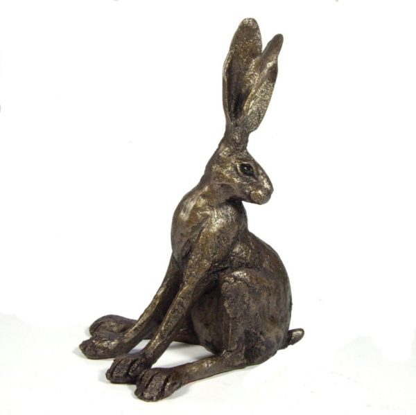 Photo of Alert Hare Bronze Sculpture Ornament