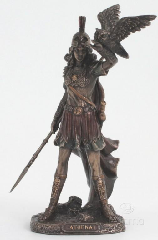 Photo of Athena Bronze Figurine 20cm