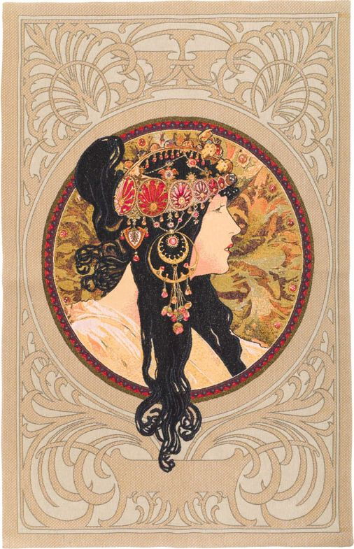Phot of Brunete Byzantne By Mucha Wall Tapestry