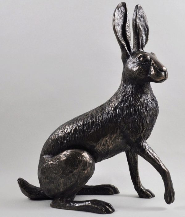 Photo of Buttercup Hare Bronze Sculpture (Harriet Glen) Large 26 cm