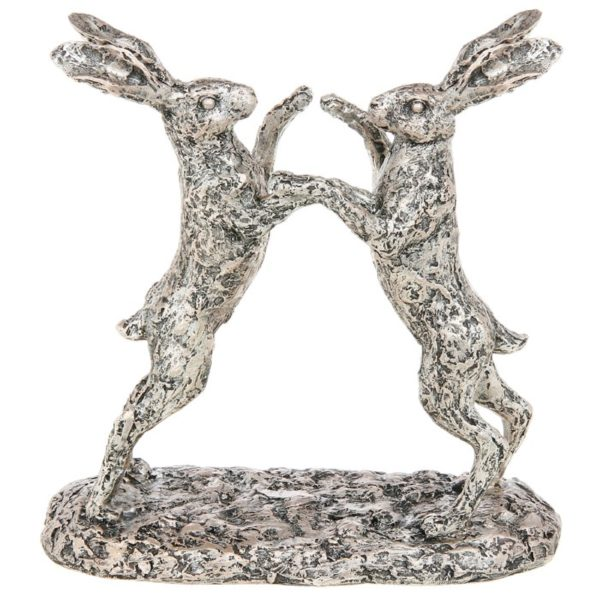 Photo of Champagne Bronze Boxing Hares