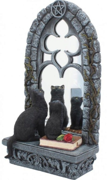 Photo of Familiar Reflection Cats Figurine Mirror Large 36 cm