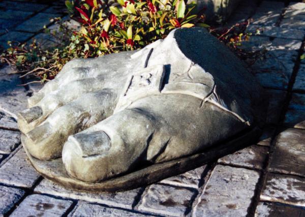 Photo of Giant Foot Stone Sculpture (Roman Baths)