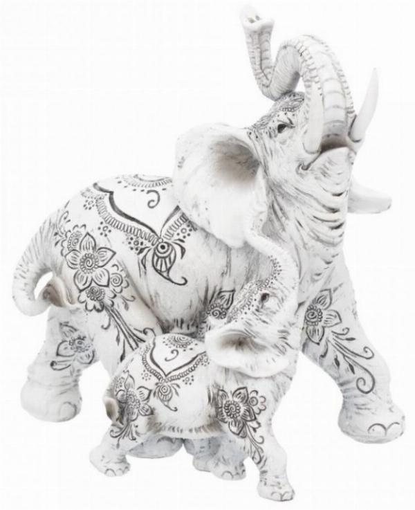 Photo of Henna Decorative Elephant and Calf Ornament