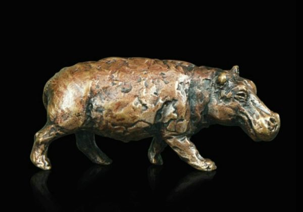 Photo of Hippo Bronze Miniature (Butler and Peach)