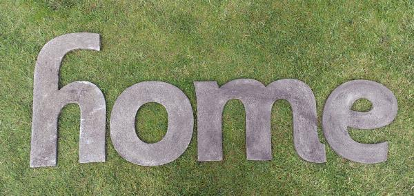 Photo of HOME Wall Plaque (Set of Four Large Stone Letters)