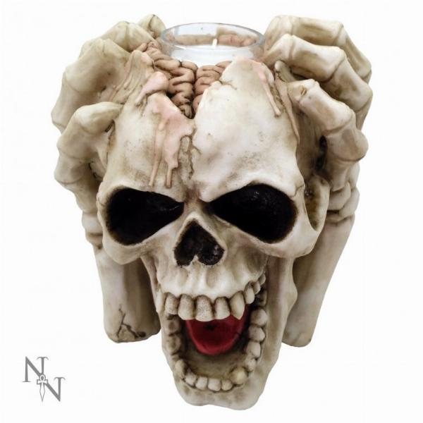 Photo of Insane Screaming Skull Tea Light Holder 15.5cm