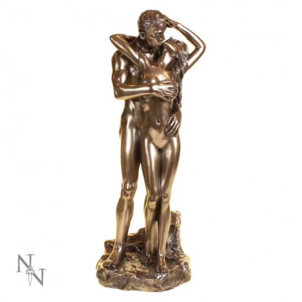 Photo of Loves Caress Bronze Nude Couple Figurine 28cm