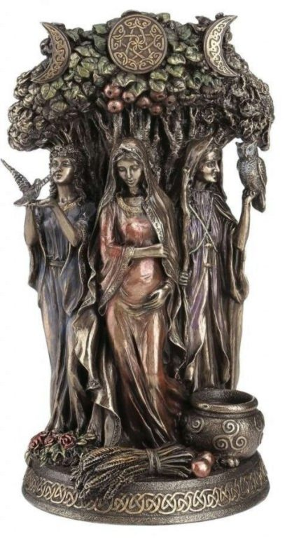 Photo of Maiden Mother and Crone Bronze Figurine 27cm Pagan Goddess