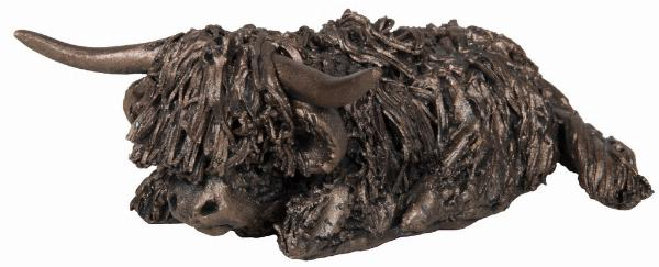 Photo of Morag Sitting Highland Bull Bronze Figurine Small (Veronica Ballan) Frith Minima