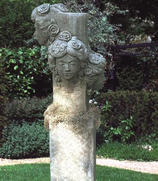 Photo of Nouveau Heads Stone Sculpture