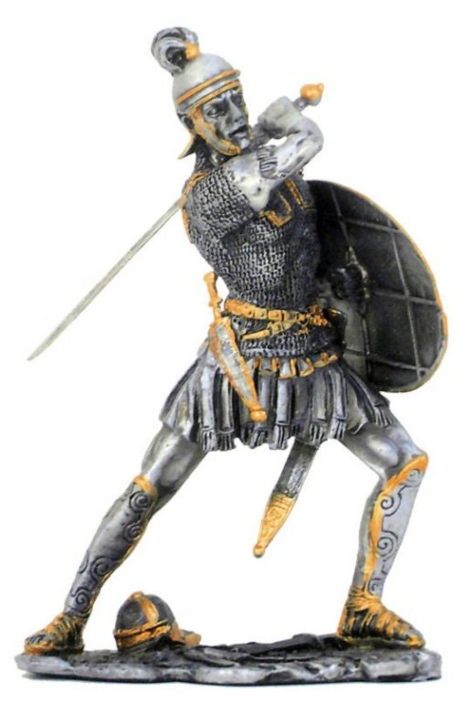 Photo of Roman Attacking Pewter Figurine