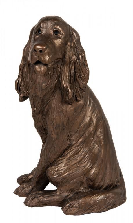 Photo of Sam Cocker Spaniel Sitting Bronze Figurine Paul Jenkins