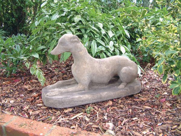 Photo of Sitting Whippet Dog Stone Garden Sculpture