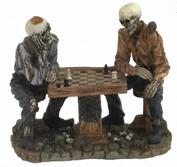 Photo of Skeletons Playing Chess Figurine