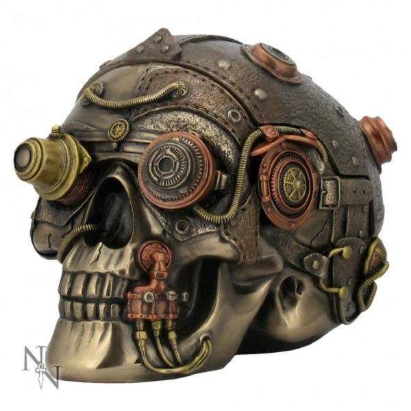 Photo of Steampunk Enhancer Skull Bronze Secret Box