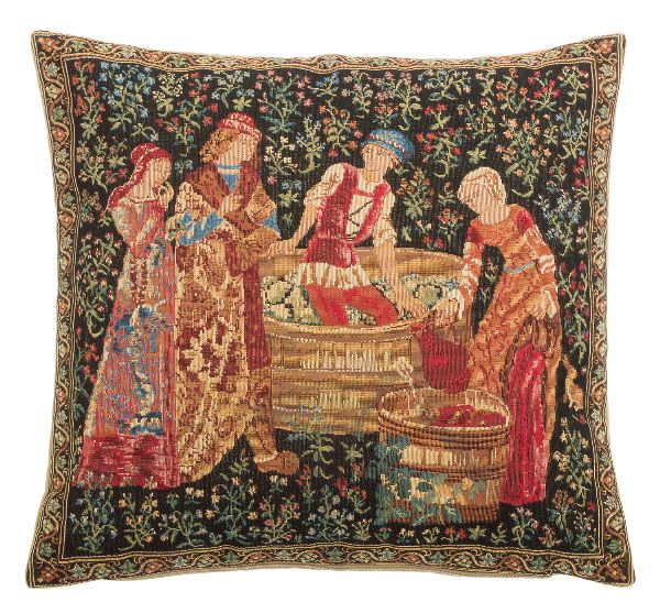 Phot of The Pressing Grape Harvest Tapestry Cushion