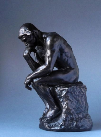 The Thinker Bronze Figure Large 36 Cm Auguste Rodin