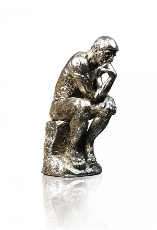 Photo of The Thinker Silver Figurine (Auguste Rodin)