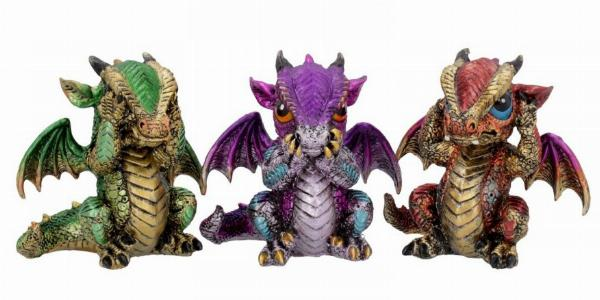 Photo of Three Wise Dragon Ornaments 8.5cm (Set of 3)