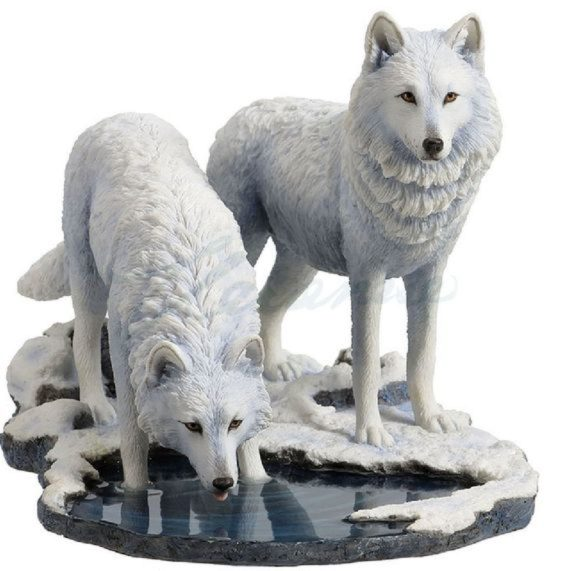 Photo of Warriors of Winter Wolf Figurine (Lisa Parker)