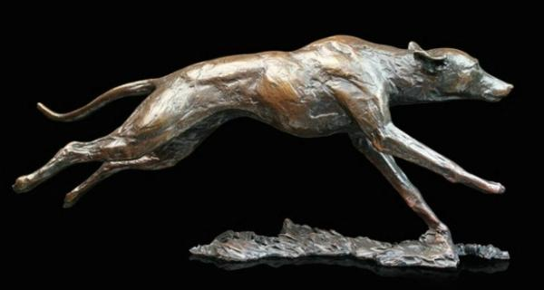 Photo of Whippet Running Bronze Figurine (Limited Edition) Michael Simpson