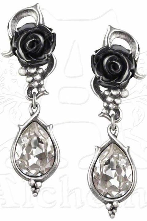 Photo of Bacchanal Rose Dropper Stud Earrings (Pair)
