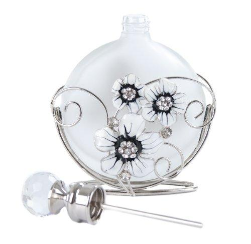 Photo of Black Butterfly and Crystal Flower Perfume Bottle Juliana