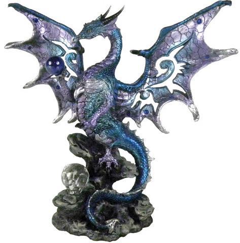 Photo of Blue Wise Dragon Figurine Alator