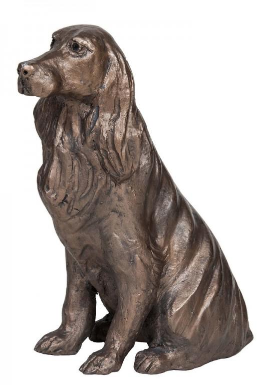 Photo of Bunty Spaniel Sitting Bronze Figurine Paul Jenkins