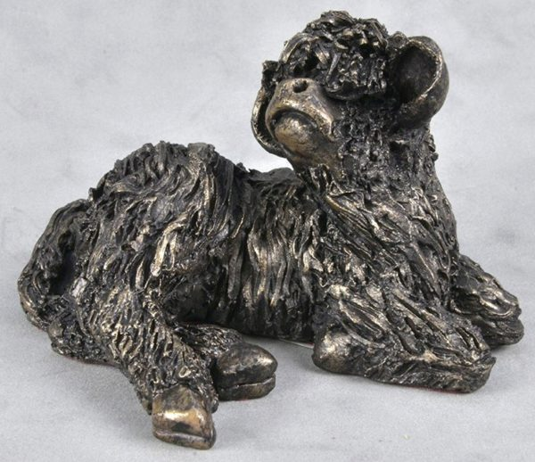 Photo of Calf Resting Bronze Sculpture