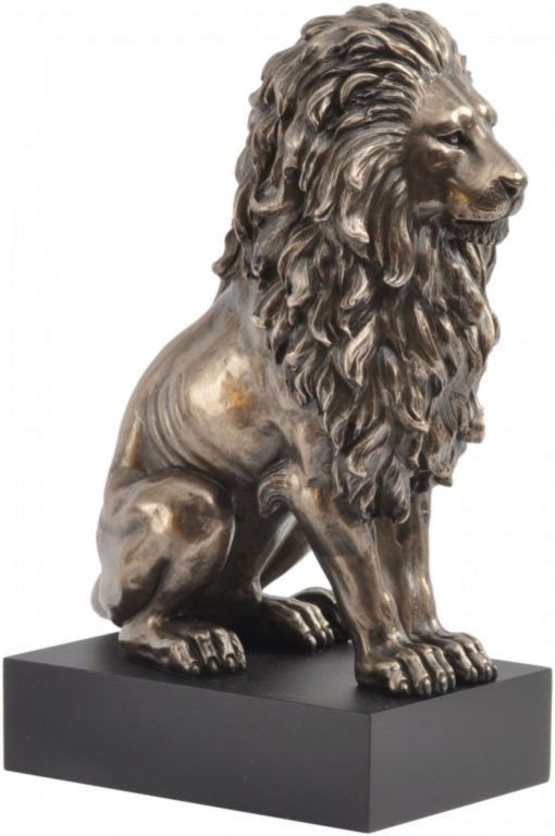 Photo of Classical Bronze Lion on Plinth 23 cm
