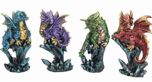 Photo of Dragonling Brood (Set of 4) Small Dragon Ornaments
